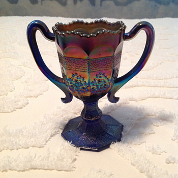 Carnival Glass Loving Cup