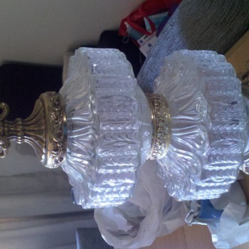 a pair of Glass Lamps circa unknown - Lamps