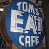 """Vintage 1950's TOMS """"EAT"""" CAFE Antique Neon Sign Two Sided"""