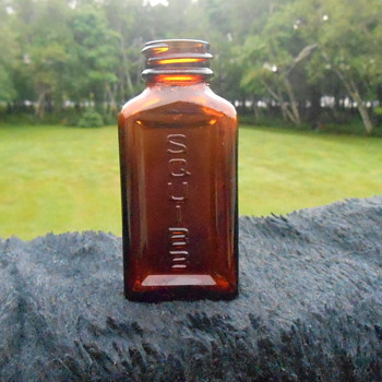 Vintage Squibb Medicine Bottle