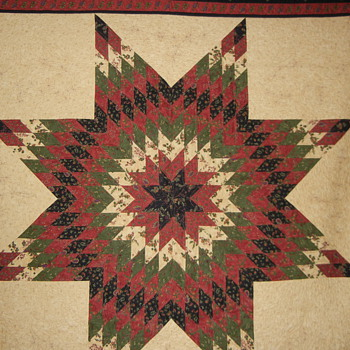 Lone Star Quilt with custom quilting