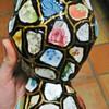 1970's Greek Vase Made from Broken Porcelain - Signed Dimitrios