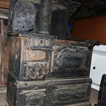 """The Boynton Furnace Co."" stove.  1880s - Kitchen"