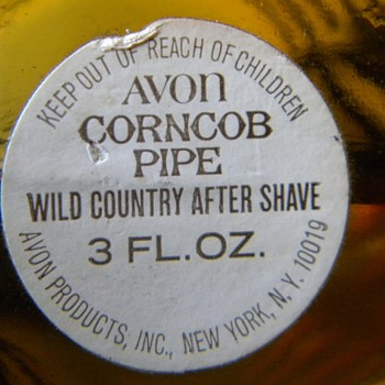 Avon Corncob Pipe Wild Country After Shave - Bottles