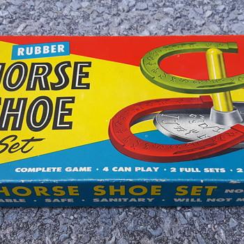 Auburn Rubber Company Horse Shoe Set.