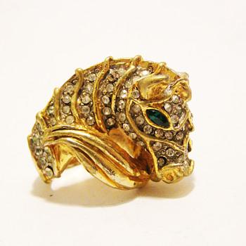 Vintage Kenneth Jay Lane Zebra Ring - Costume Jewelry