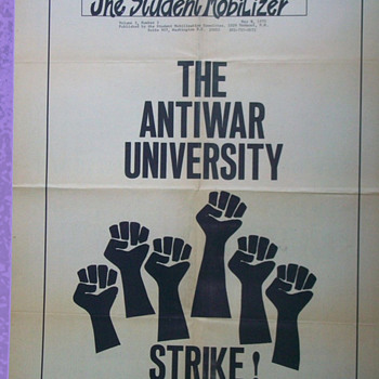 The Student Mobilizer THE ANTIWAR UNIVERSITY Strike Poster - Posters and Prints