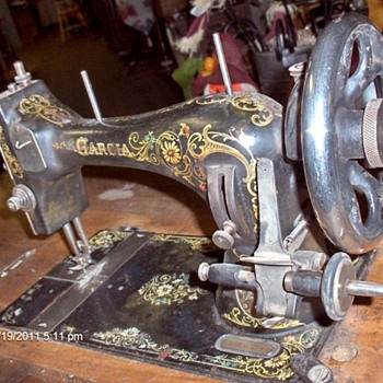 Rare Garcia Coffin Top Treadle Sewing Machine - Sewing
