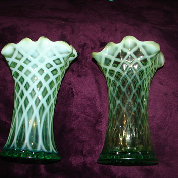 Jefferson Glass No. 228 Green Opalescent - Glassware