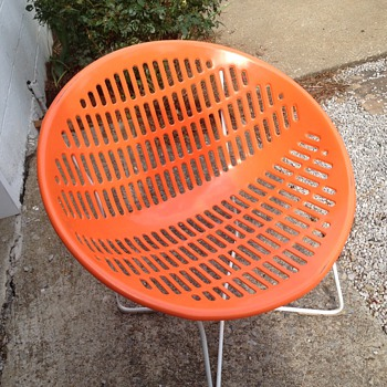 Orange chair - Furniture