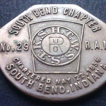South Bend Chapter 1856 coin or token? - Advertising