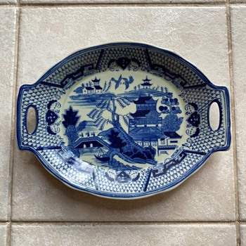 Chinese Blue Plate - Asian
