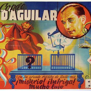 "Original ""Conde D'Aguilar Stone Lithograph Poster"