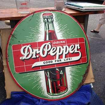 "48"" Dr Pepper Sign"