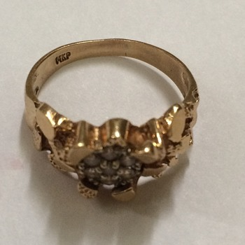 Gold Nugget And Diamond RingGere - Fine Jewelry
