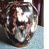 "Beautiful Brown  McCoy ""Onyx"" Vase / Yellow ware / Circa 1920's ?"