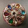 Warner wheel brooch