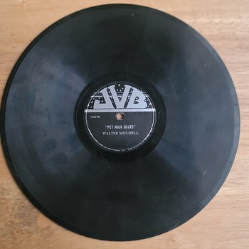 "JVB ""Pet Milk Blues"" - Walter Mitchell 78 Shellac Record - Records"