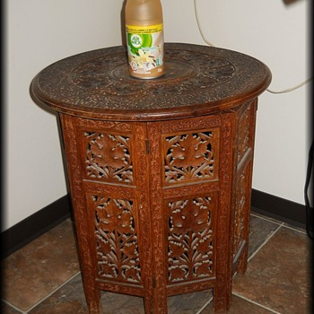 Wood carved Table - Asian ? - Asian