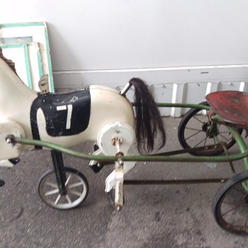 1950s Soviet Horse & Buggy Pedal Tricycle - Model Cars