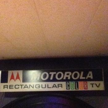 Friends Motorola Color TV SIGN