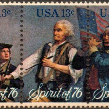 "1976 - ""Spirit of '76"" Postage Stamps (US) - Stamps"
