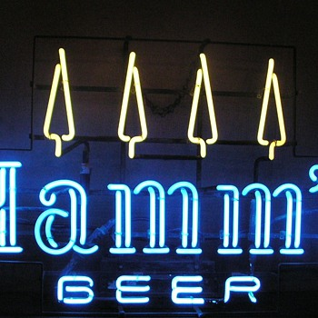 Hamms Beer neon sign