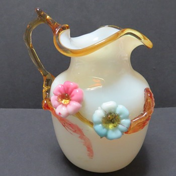 Antique Custard Glass Jug - Art Glass