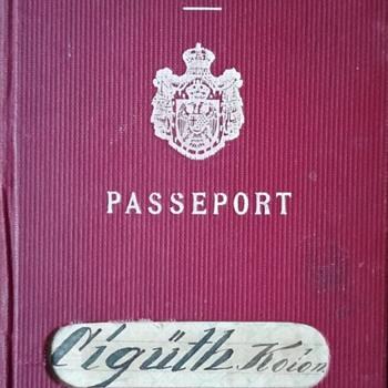 Jasenovac concentration camp victim's pre-war 1938 passport - Paper
