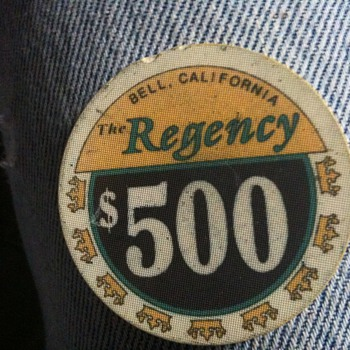 The Regency, Bell Ca $500 Chip - Games