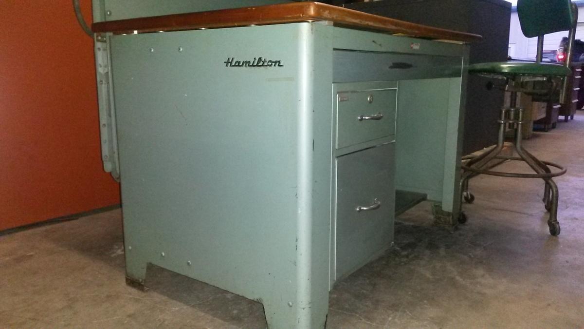 1950 S Hamilton Drafting Table Hydraulic Tilt Amp Top Lift