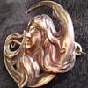 Art Nouveau Moon Lady Makers mark mystery
