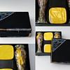 Unusual and Rare BATH SALTS Gift Box set with KRALIK Salt container/vase
