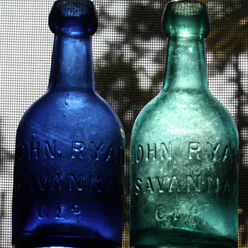 ===1850's John Ryan Potter Bottles===