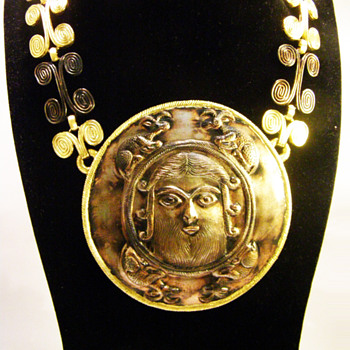 Vintage Diane Love for Trifari Sassanian Plaque Necklace - Costume Jewelry