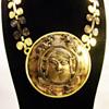 Vintage Diane Love for Trifari Sassanian Plaque Necklace