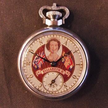 Queen Eizabeth II Coronation Pocket Watch, Variant 1