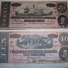 1864 confederate 10 & 20 dollar bills