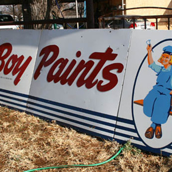 Dutch Boy Paints Advertising Sign - Signs