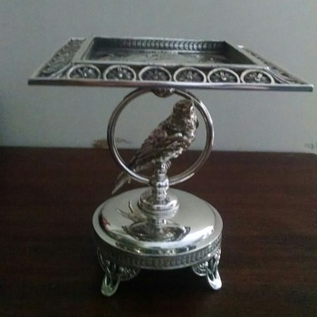 Pairpoint Silver Plate Card Tray
