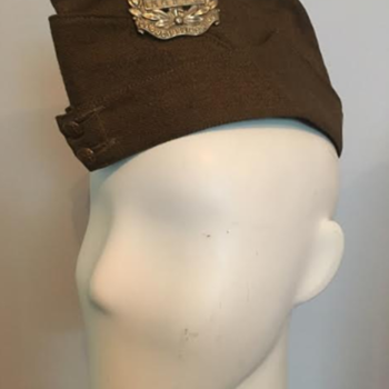WWII Westcott Home Guard Side Cap (Gloucestershire Regiment Badges) - Military and Wartime