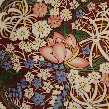 Lei Lani Plate by Don Blanding, Vernon Kilns - Pottery