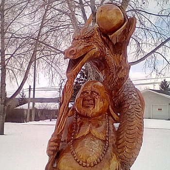 Road Trip / Chainsaw Carvings 3 - Fine Art