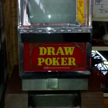 Vintage Casino Used Video Poker Slot Machine - Coin Operated