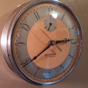 Art Deco Hammond Wall Clock - Art Deco