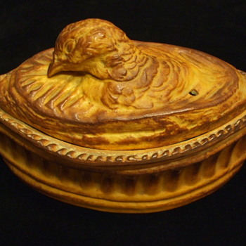 Old FRANCE Game Bird Tureen/Terrine with Quail--Pillivuyt? - Pottery