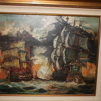 War Ships painting by Vasselli - Fine Art