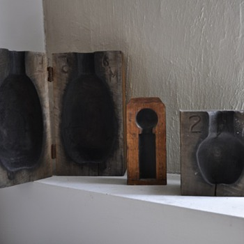 Old Wooden Block  Bottle Molds - Tools and Hardware