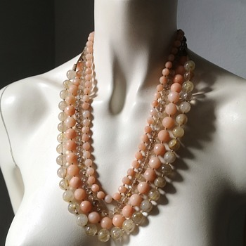 Milano Italy Custom jewelry - facetted and cordonato d'oro glass beads - Costume Jewelry