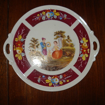Merry Christmas to all CW friends: a lovely tray for the pannetone - China and Dinnerware